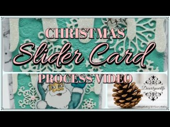 Christmas Slider Card Making Process feat NEW Stamps and Dies from Made to Surprise by Sam Calcott
