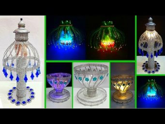 3 Economical Lamp/Lampshade made With recycled Plastic Bottle|Best out of waste room decoration idea