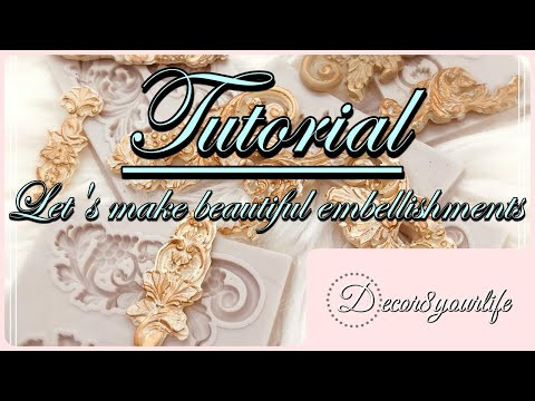 Embellishments Tutorial for your Card Making, Mini Albums, Scrapbook Layouts, 3D Projects and More!
