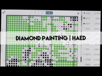 Diamond Painting - How I use the Pattern Keeper App for my HAED