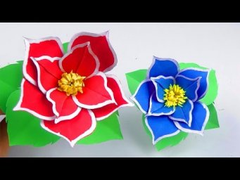 How to Make Beautiful Flower with paper - Easy Flowers for Beginners Making - Handmade Craft