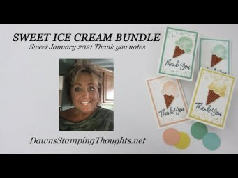 YUMMY ICE CREAM THANK YOU NOTES Tips & Tricks using the Ice Cream Punch
