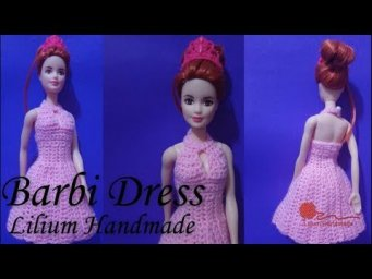 How to crochet barbie dress tutorial (left hand)