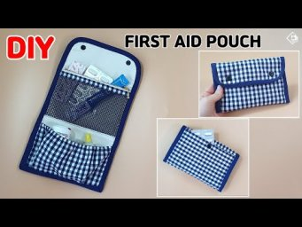 DIY FIRST AID KIT POUCH/ Medicine Zipper Pouch/  Sewing Tutorial [Tendersmile Handmade]