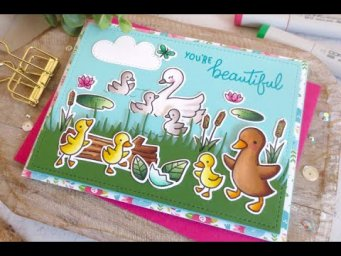 The Ugly Duckling Card | Copic Coloring | Lawn Fawn