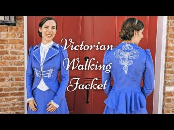 Finally Finishing an 1890s Victorian Walking Jacket || Historical Sewing & Knitting