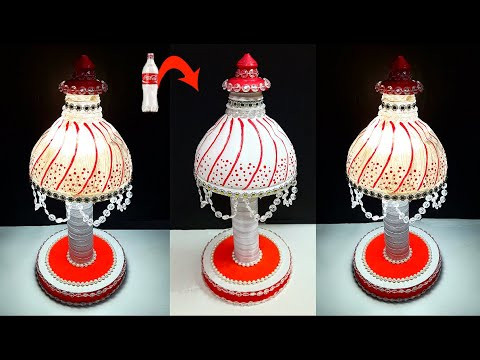 DIY- Lamp/lampshade made out of recycled plastic bottles |Best out of waste room decoration ideas