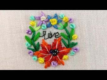 Mini Floral Wreath Embroidery - Hand Embroidery Ideas