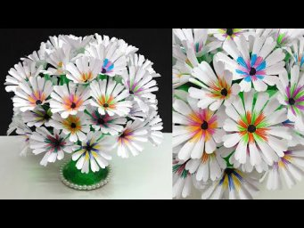 How to make flowers Bouquet/Guldasta with Empty Plastic bottle|DIY-room decoration idea