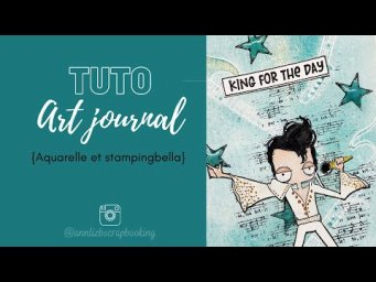 Tuto art journal aquarelle : stampingbella et DYE et Cie