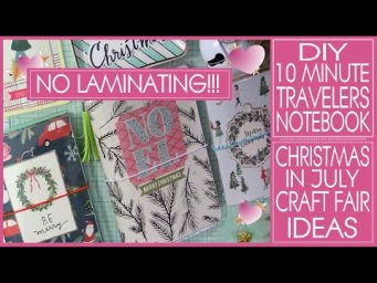 DIY 10 MINUTE TRAVELERS NOTEBOOK!!! Super Easy!!! Craft Fair Ideas 2020 #Christmasinjuly
