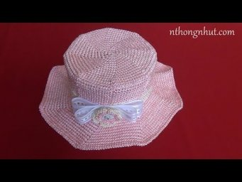 Crochet summer hat tutorial (Eng sub)