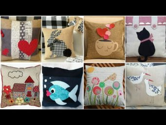 Beautiful Patch Work Pillow Cover Designs / Diy Patch Work Cushion Cover Design  Ideas / H H C