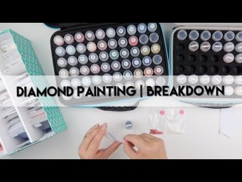 Diamond Painting - Completed & Breakdown | Coffee Time