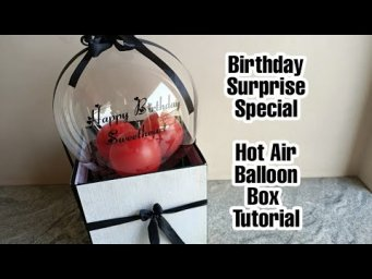 Surprise Balloon Box Tutorial||How To Make Surprise Balloon Box Full Tutorial || Helium Balloon Box