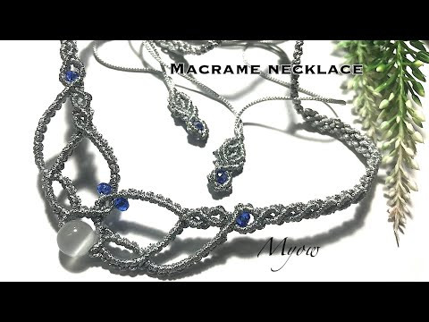 SIMPLE MACRAME NECKLACE WITH BASIC KNOTS - MYOW 225