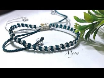 SIMPLE BRACELET WITH BASIC MACRAME KNOTS FOR BEGINNER #1
