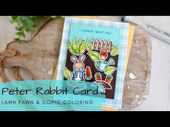 Peter Rabbit Card | Copic Coloring a Story Book Scene | Lawn Fawn