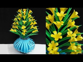 DIY - Paper Flower vase made with Paper Flower Bouquet  |DIY-Room Decoration Idea