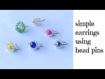 how to make simple and easy earrings at home/beautiful pearl earrings/diy earrings for daily use