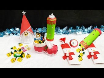 4 Handmade Christmas/New year Gift idea | Best out of waste Low budget Christmas gift craft idea