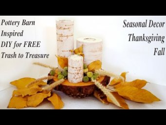 Pottery Barn Dupe Trash to Treasure Fall Thanksgiving Farmhouse Decor DIY / MomDas Life Handmade