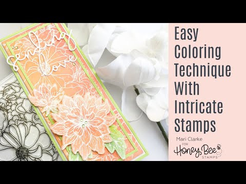 Easy Coloring Technique With Intricate Stamps