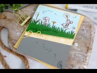 Dandy Day Card | Copic Coloring | Lawn Fawn