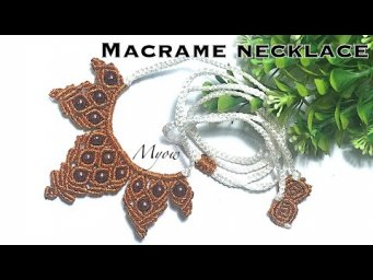 MACRAME NECKLACE WITH BEADS - MYOW#116