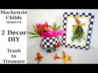 Mackenzie Childs Inspired High End Christmas Decor DIY from Trash to Treasure / MomDas Life Handmade