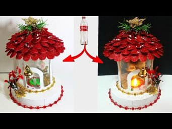 DIY: New Design Showpiece made from waste Plastic Bottle| DIY Christmas/Santa Claus craft ideas