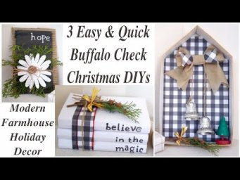 BUFFALO CHECK FARMHOUSE CHRISTMAS DECOR PROJECTS / Trash to Treasure DIYs