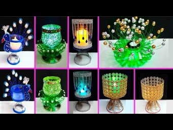 5 Easy Economical Tealight Holder made with plastic bottle | Best out waste Christmas craft idea