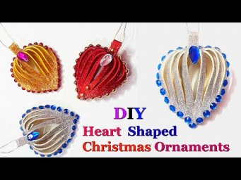DIY- Heart shaped Christmas Tree ornament making ideas |DIY Christmas decoration idea