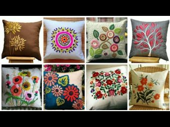 Hand Embroideried Cushion Cover Designs / Embroidery Designs For Cushion / Pillow Case