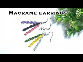SIMPLE EARRINGS WITH BASIC KNOTS - MYOW#117