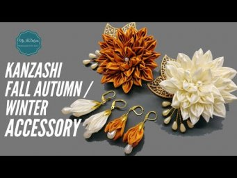 DIY Kanzashi Accessory - Fall Autumn / Winter Collection | MyInDulzens