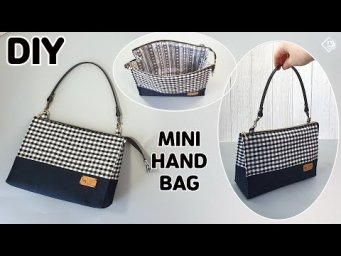 DIY MINI HAND BAG / zipper pouch bag / mini tote/ easy sewing tutorial [Tendersmile Handmade]