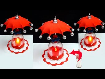 DIY-New Showpiece/Tealight holder made from Plastic Bottle| DIY home decoration ideas