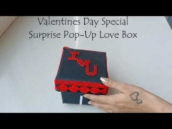 Valentine's day Special Pop-up Box Card Tutorial|| Valentine's Day surprise Box