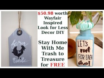 2 Wayfair Inspired Easy Boho Farmhouse Decor DIY Look for Less Trash to Treasure Stay Home #WithMe