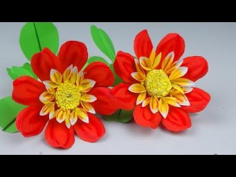 How to Make Beautiful Flower with Paper - Easy Making Paper Flowers Step by Step- Handmade Craft