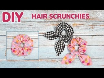 DIY How to Make Hair Scrunchies (Bunny Ears)/ Free Pattern / sewing tutorial [Tendersmile Handmade]