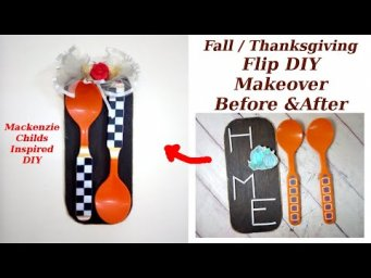 Mackenzie Childs Inspired Fall Thanks Giving Farmhouse Decor DIY Thrift Flip / MomDas Life Handmade