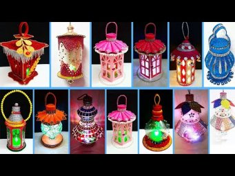10 Economical Lantern made with plastic bottle | Best out waste low budget Christmas craft idea