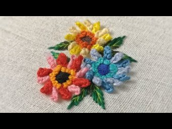 Hand Embroidery Designs : Double Cast On Stitch #1