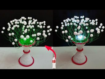 DIY-New Showpiece/Lampshade made from Plastic Bottle | Best out of waste Room decoration idea