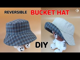 DIY REVERSIBLE BUCKET HAT/ How to make a Hat/ Free Pattern/ sewing tutorial [Tendersmile Handmade]
