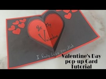 Valentines Day Card Tutorial||Valentines Day Pop-up Card Tutorial||How to Make Valentine's Day C