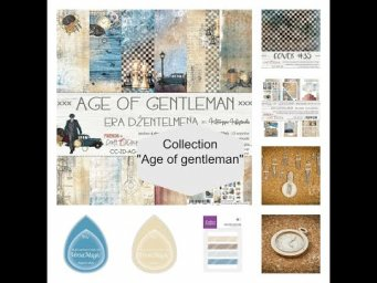 "ScrapMerveilleux collection ""Age of gentleman"""